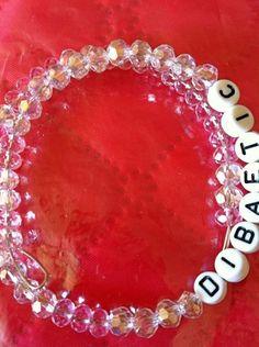 Medical Alert Diabetic Beaded Bracelet by RainbowBracelets on Etsy, $8.00