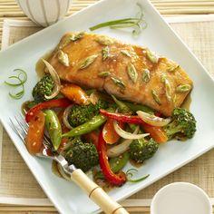 Maple Wasabi Glazed Salmon