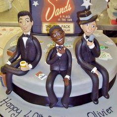 The Rat Pack cake ~ Dean Martin, Sammy Davis Jr, Frank Sinatra