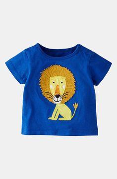 Mini Boden 'Big Appliqué' T-Shirt (Infant)