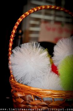 DIY dish scrubbies,