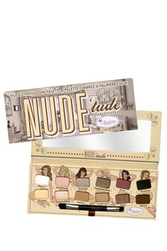 Nude'tude Eyeshadow Palette by theBalm on @HauteLook   On Sale Half Price #makeup #sale #halfprice #eyeshadowpalette