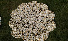 Crochet Doily Tablecloth Pineapples Four Foot by NancysCrochet, $39.50