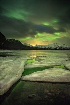 Aurora on the rocks in Norway