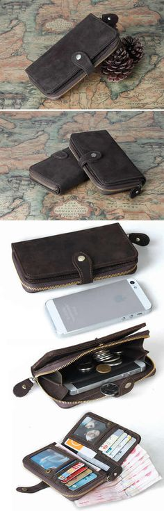 Vintage Leather Wallet / iPhone 4 4s iPhone 5 5c 5s Wallet / Purse