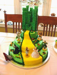 Wizard of Oz Cake dream cake, idea, wizardofoz, birthdays, wizards, wizard of oz, oz cake, parti, birthday cakes