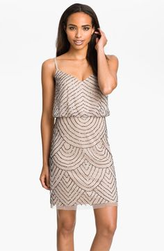 Sequined Mesh Blouson Dress from Adrianna Papell