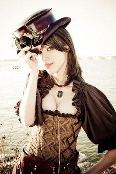 book trailers, costum, steampunk fashion, sleev, outfit, corset, beauty, top hats, gothic fashion