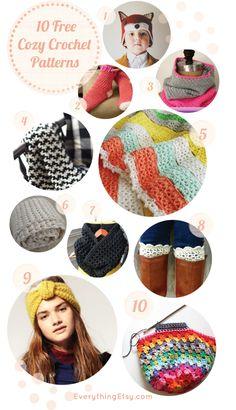10 Free Cozy Crochet Patterns - EverythingEtsy.com #crochet #pattern