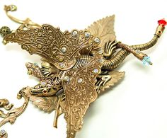 Art Nouveau Necklace The Dragon and The Snake by ~byrdldy on deviantART