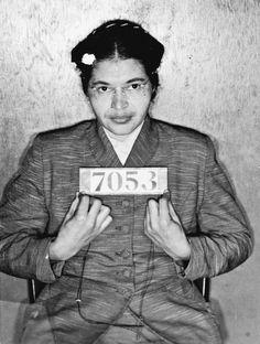 Rosa Parks' mugshot - December 1955