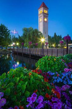 spokan clocktow, washington state, photograph, real estates, parks