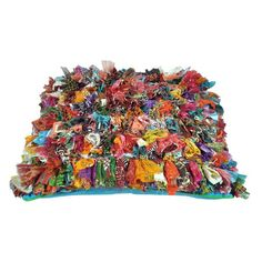 Textured cotton pillow in multicolor.   Product: PillowConstruction Material: CottonColor: Multi