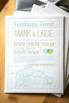 Laicie + Mark's California Farm Wedding Save the Dates |Design: Matthew Novak | Letterpress Printing: Dingbat Press | Photo Credits: Tin Sparrow