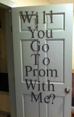 This is so cute. No more prom for me but this would be a cute way to be asked out on a date or something haha :)