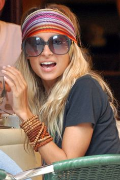 Like the glasses..kinda can see eyes  Hippie Chic..she's one of a kind :)