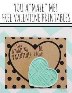 "Class Valentine Printable: You A""Maze"" Me!"
