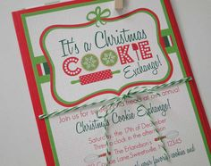 Invitation christma cooki, cooki exchang, cookie swap, exchang parti, cooki parti, swap invit, cooki swap, christmas cookie exchange, exchang idea