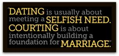 Dating vs courting christian