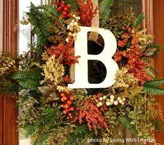 front door decor, front door wreaths, christmas front doors, season, monogram, wedding hairs, homemade wreaths, fall decorating, fall wreaths