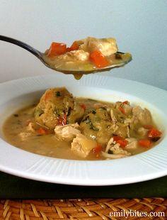 Emily Bites - Weight Watchers Friendly Recipes: Herbed Chicken & Dumplings