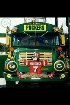 Packers School Bus....where lessons are taught