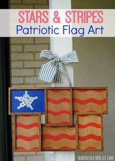 Stars & Stripes Patriotic Flag Art using #Frogtape via @shakentogether