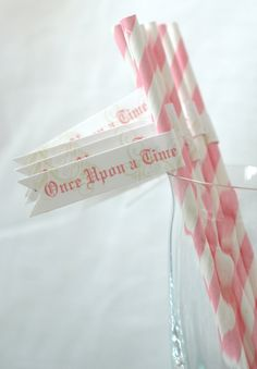 Fairy Tale Collection - PRINTABLE PARTY FLAGS by Itsy Belle. $3.00, via Etsy. Can I make these? Or something similar? Probably