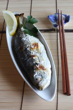 Japanese Salt Broiled Fish and a Typhoon Day