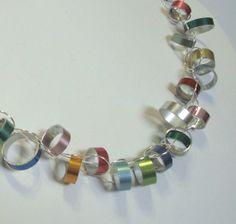 Knitting needle jewelry--love it!
