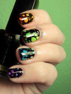 Carol Ri  Vodpod: Water Spotted Gradient Nails #Lockerz