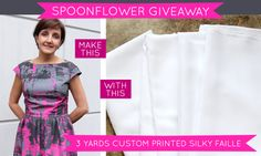 Check out this week's Spoonflower giveaway-- a chance to win three yards of custom-printed Silky Faille!
