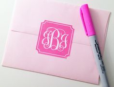 Free printable monogram stickers.  Just type in your monogram, choose your color (12 choices) and print!  Awesome!
