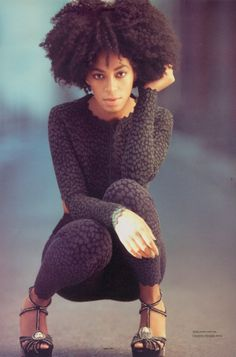 Solange Knowles was the first Black celebrity to go with her natural hair texture. She looks so chic. I cannot abide weaves or extensions. Biddy Craft