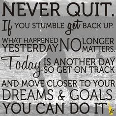 Some days it is hard to keep going but you've got to stay strong if for nobody else but for yourself!