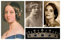 Tiara detail worn by Queen Victoria; Princess Mary, Princess Royal and Countess of Harewood; Andrea Lascelles, wife of Mark Lascelles, fourth son of the 7th Earl of Harewood