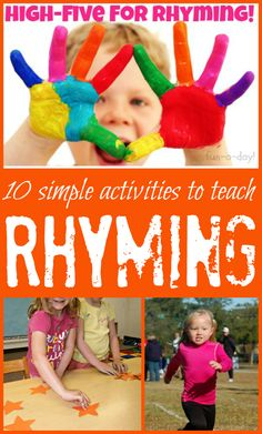 Rhyming Activities for Children -- 10 simple games to play with kids who are learning to rhyme
