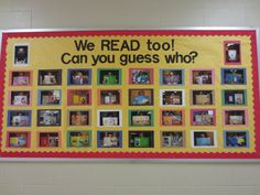 We read too! Can you guess who? I love this idea! I so want to do this!