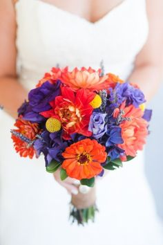 Purple and Orange Rustic Garden Wedding