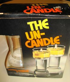 uncandle---my mom had these, at Christmas time she used food coloring in the water. I think you used vegtable oil for them.