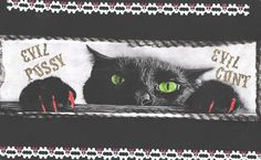 EVIL cat art by TheEscapistArtist on Etsy, $7.00