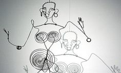 One of my mom's many artistic gifts was making Wire Art. The one I remember specifically was of a woman in multi-colored wire, and looked similar to this rendition of Josephine Baker by Joseph Calder #uncommon #contest