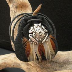 Frog Power Animal Amulet  Animal Totem Medicine Bag _#GeorgeTupak