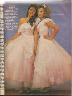 """1987 Adela Noriega and Thalía in """"Quinceañera"""""""