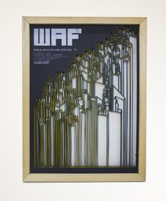 World Architecture Festival '13 // 3D Poster by Kevin Chao, via Behance poster design, 3d poster