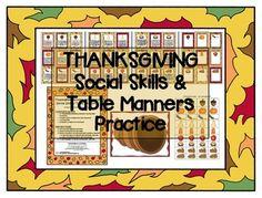 Thanksgiving Social Skills / Pragmatics / Etiquette Activi