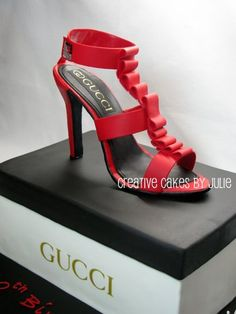 Gucci Shoes Cake. Incredible.