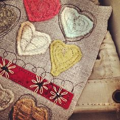 stitched hearts