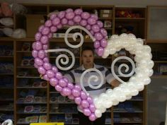 Heart balloon art, heart balloon, balloon decor, ballon