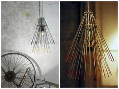 Hawaii Lamp #Bike, #Lamp, #Metal, #Reused, #Upcycled, #Wheel
